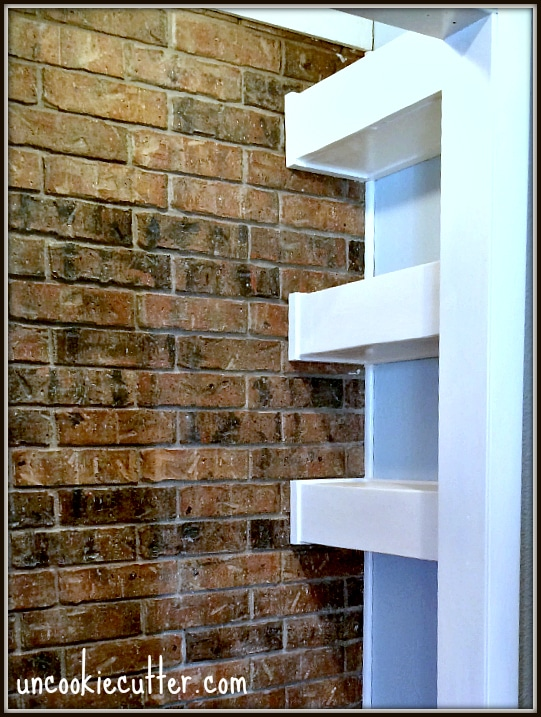 Dr. Suess Themed Book Nook - All about how to make the floating shelves that are strong enough to hold tons of books! UncookieCutter.com