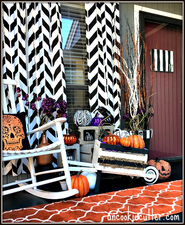 Fall Front Porch Makeover - UncookieCutter.com