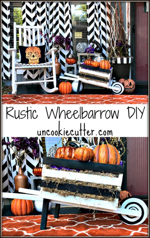 Rustic Wheelbarrow DIY - The Home Depot DIH workshops - UncookieCutter.com