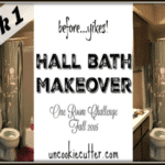 Hall Bath Makeover – One Room Challenge Week 1