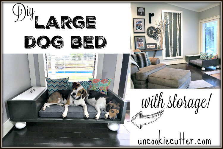 Large DIY Dog Bed - UncookieCutter.com
