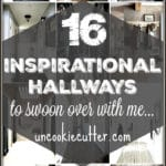 Are you looking for decorating ideas for your hallway or entryway? From Narrow and small to long and large I have 16 inspiring hallways full of ideas! #entryway #hallway
