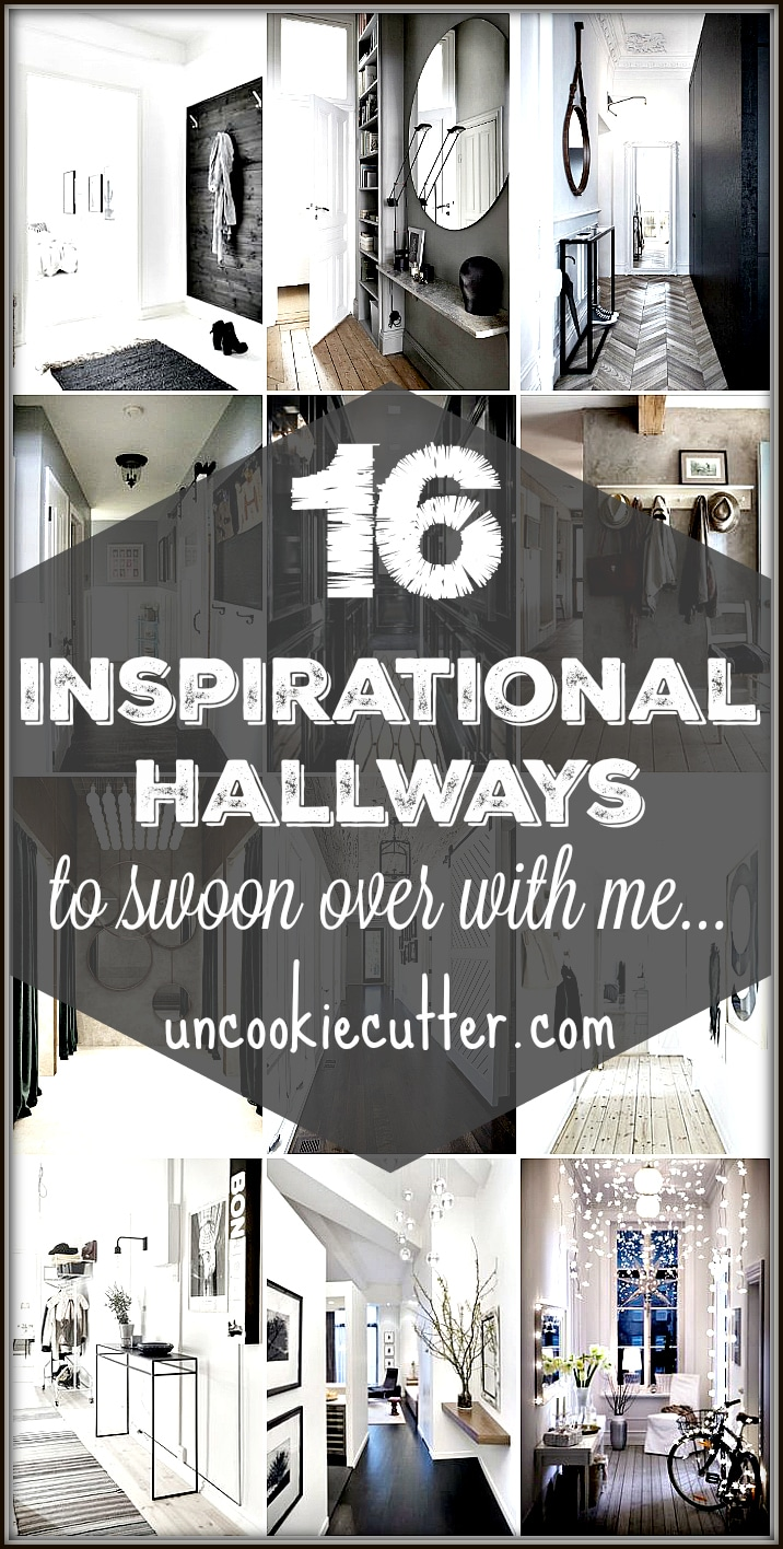 Are you looking for decorating ideas for your hallway or entryway? From Narrow and small to long and large I have 16 inspiring hallways full of ideas!