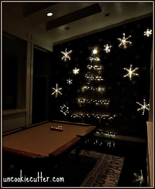 DIY Winter Wonderland Wall and Light Up Snowflake - Uncookiecutter.com