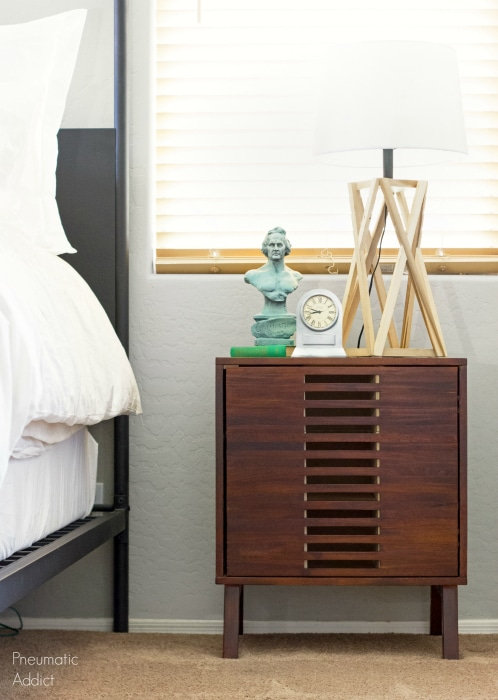 Mid Century Nightstand with Hidden Shoe Storage - Pneumatic Addict