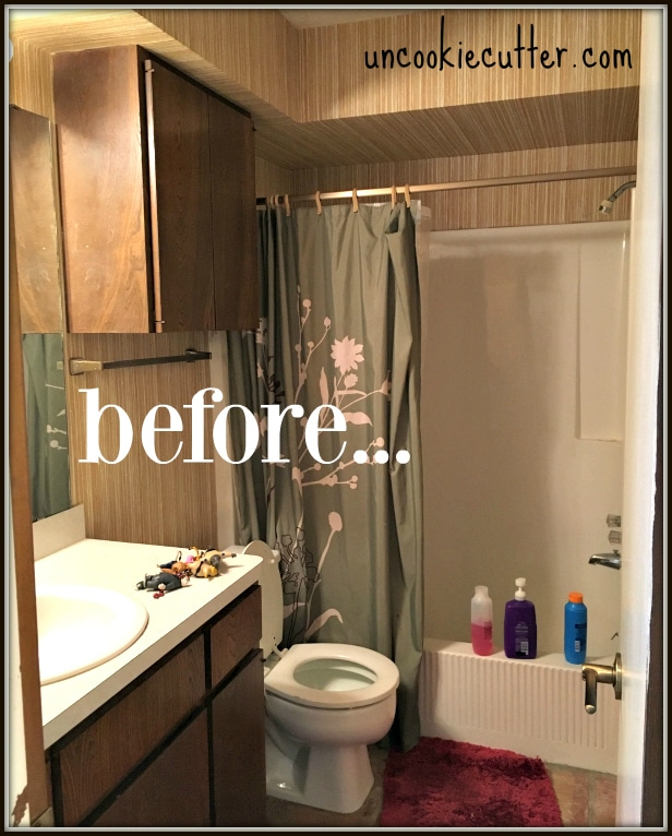 Come see our new modern spa bathroom makeover, filled with tons of DIY projects and tutorials. UncookieCutter.com