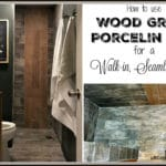 Walk-in, Seamless Entry Shower with Wood Grain Tile