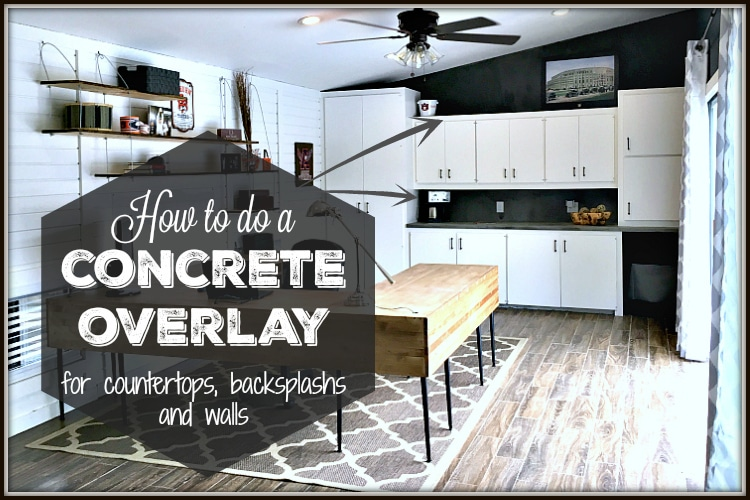 Concrete Overlay for Countertops, Backsplash and Walls
