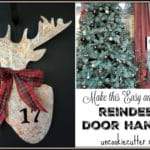 Reindeer Door Hanger – An easy wreath alternative!