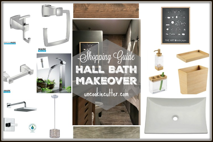 Hall Bath Makeover - Bath Shopping Guide - UncookieCutter.com