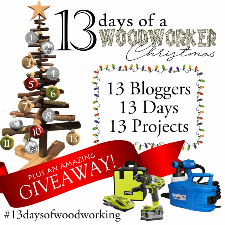 13 Days of a Woodworker Christmas + a Giveaway! Get all the details at UncookieCutter.com