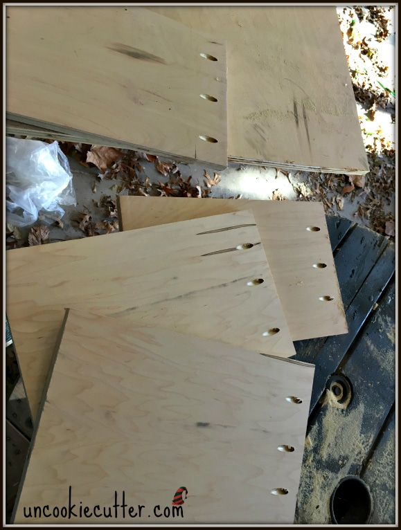 Tree Stand Boxes - An easy and quick tree skirt alternative for outdoor trees - UncookieCutter.com
