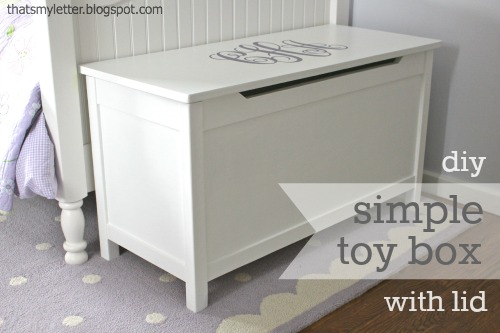 "That's My Letter: ""S"" is for Simple Toy Box with Lid"