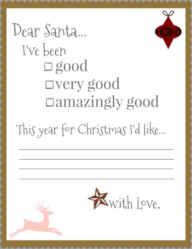 Santa Letters- Free Printable at Uncookie Cutter.com