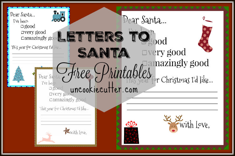 Santa Letters - Free Printable at Uncookie Cutter.com