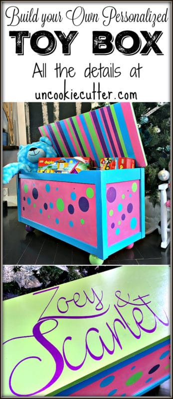 Build your own toy box - get all the details on how I did it on the blog - UncookieCutter.com