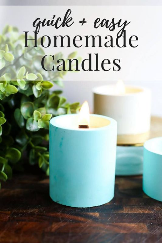 Quick and Easy Homemade Candles - Love & Renovations - Saturday Showcase - January 2017