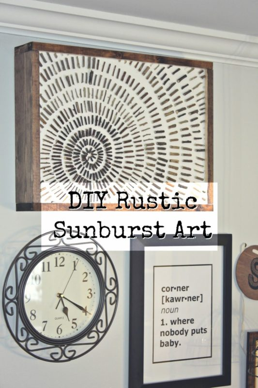 DIY Rustic Sunburst Art - Knock it Off Kim - Saturday Showcase - January 2017