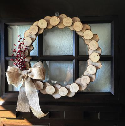 The Jawn Shop - Wood Slice Wreath