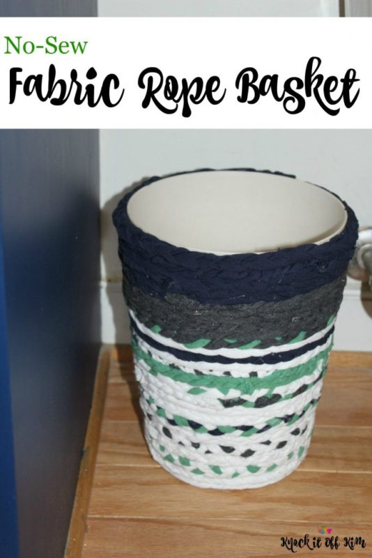 No-Sew Fabric Rope Basket - Knock it Off Kim