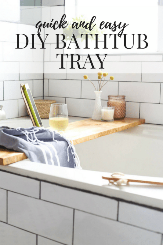 DIY Bathroom Tray - Love & Renovations