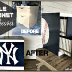File Cabinet Makeover for the Yankees fan!