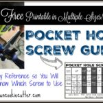 Pocket Hole Screw Guide – Free Printable!