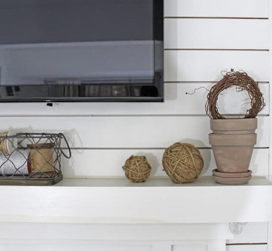 Neutral Mantel Decor - The Honeycomb Home