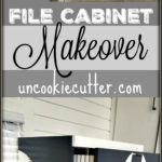 Step by step details on how I used my Silhouette machine to DIY makeover my husbands 2 drawer file cabinet with a little paint and elbow grease.