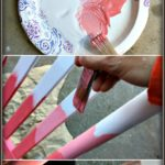 Get my technique for these DIY red sunset hued rocking chairs! Full tutorial on how to do it!