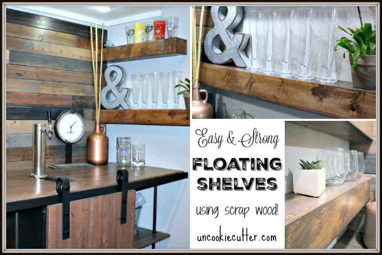 Easy And Strong DIY Floating Shelves   UncookieCutter.com