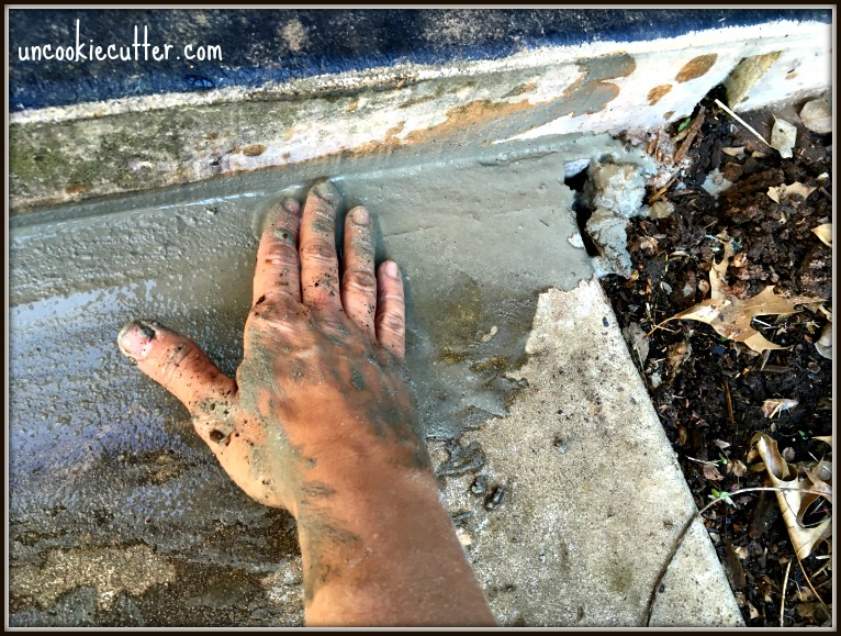 How to cheaply and easily repair cracked concrete - UncookieCutter.com