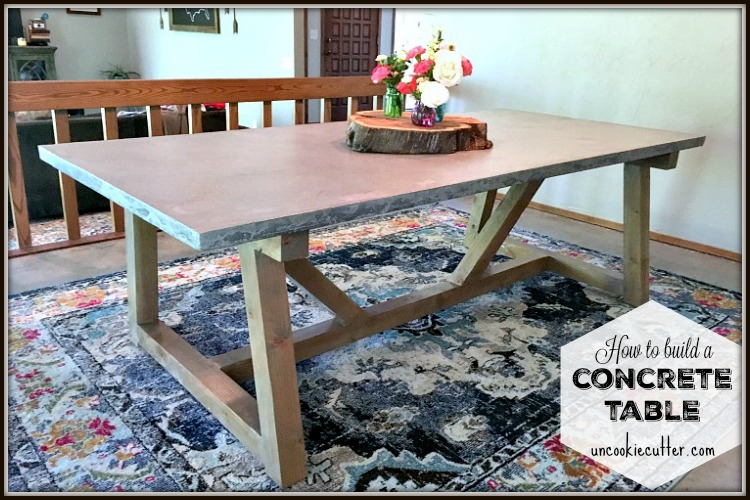Concrete Table tutorial - full details at UncookieCutter.com