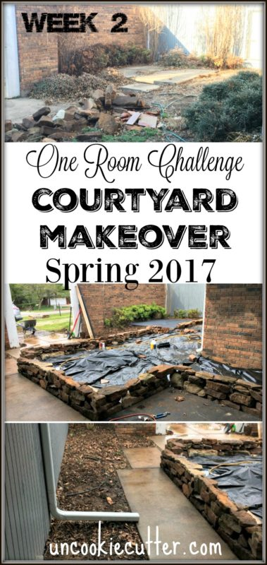 Courtyard Makeover - One Room Challenge - Spring 2017 - Week 2 - UncookieCutter.com