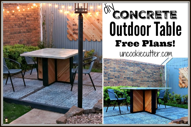 Outdoor Concrete Table Tutorial – All the Details!