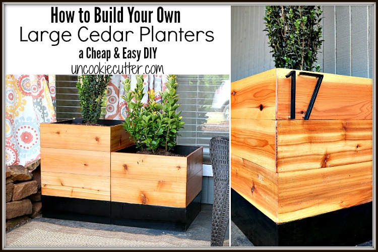 DIY Planters – Large Cedar Planters for Cheap!