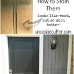 Up the curb appeal of your home with a new exterior front entry fiberglass door. Look of wood, but why it's better and how to stain it!