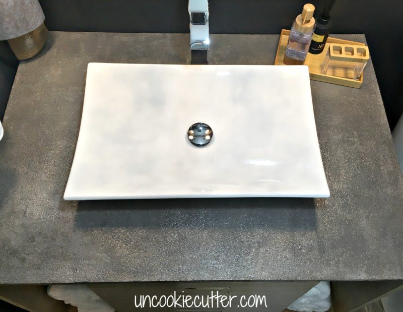 Concrete Vanity Top - DIY for less - UncookieCutter.com