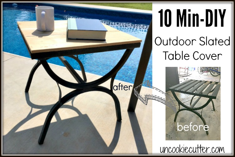 Outdoor Table Cover - June 10 Min DIY - UncookieCutter.com
