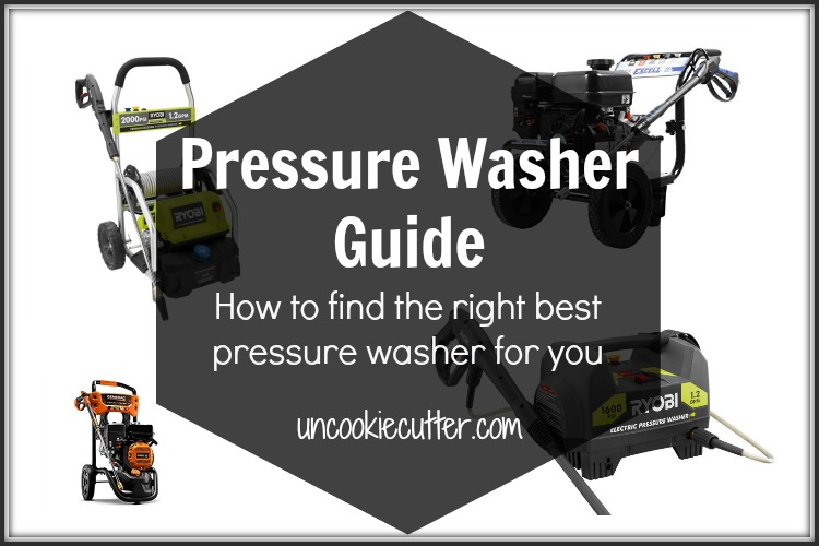 The best pressure washers can be hard to figure out, but I've got a breakdown on how to choose the one that's right for you. UncookieCutter.com