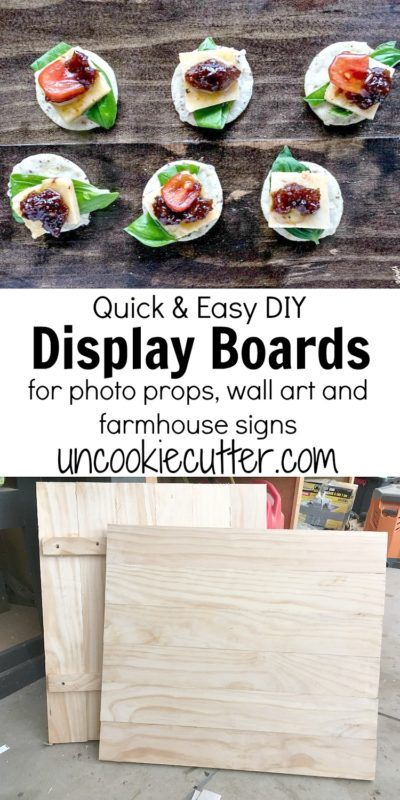 Display boards are a great thing to use as a backdrop to really make your pictures pop!  See how I did this quick and easy little build. UncookieCutter.com