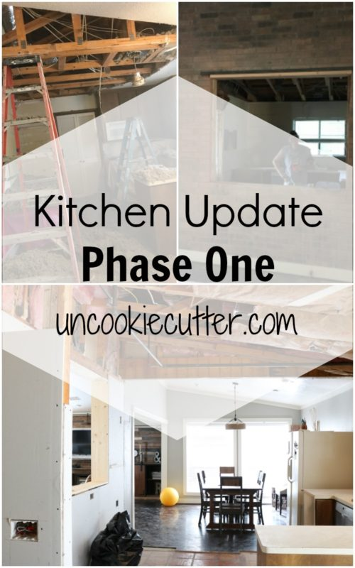 Kitchen Update, phase one is underway and I wanted to share a quick update so you can get an idea of what we are doing and where we are going. UncookieCutter.com
