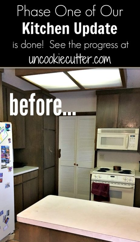 Our Kitchen Update is coming along and this week I'm sharing the completion of phase one. UncookieCutter.com