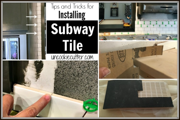 Subway Tile is a classic, timeless backsplash that you can install yourself with these simple tips and tricks from UncookieCutter.com.