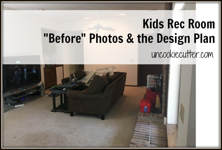Kids Rec Room, aka The Den…Before pics and a plan