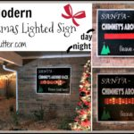 Christmas Sign – A Modern Light Up DIY