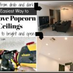 Remove Texture from Ceilings the Easiest Way EVER!!!
