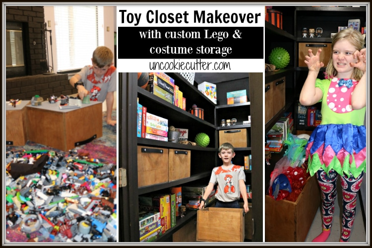 Lego Storage and Toy Closet Makeover