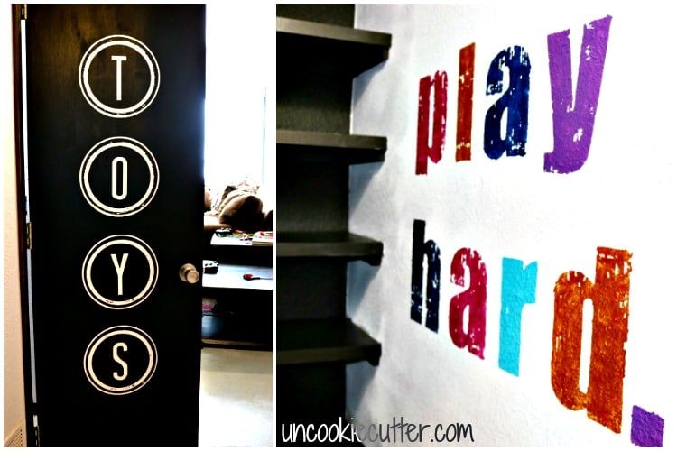 "The writing's on the wall and I'll tell you how to do it...even on textured walls! It's way cheaper and way more fun than ""traditional"" wall art. Get the full tutorial at UncookieCutter.com!"