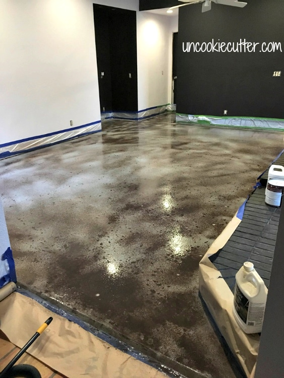 I'm breaking down how I got a polished concrete slab prepped for paint - and the mistakes I made painting the floors.   UncookieCutter.com